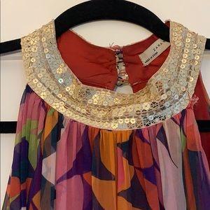 STUNNING Zara Woman Sequin Neck Collar Dress